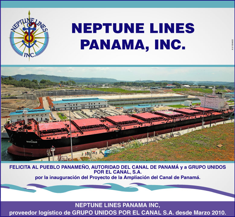 Neptune Lines and the Panama Canal expansion inauguration